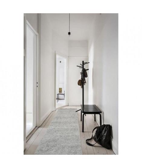 TRENDY Tapis de couloir Shaggy gris 80x300 cm