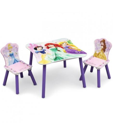 DISNEY PRINCESSES Table enfant et 2 chaises enfant en bois