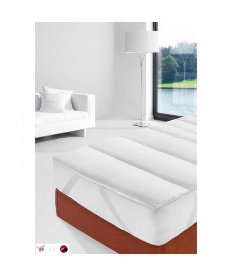 STIPI Sur-matelas Damassé Anti Acariens 90x190-200 cm blanc