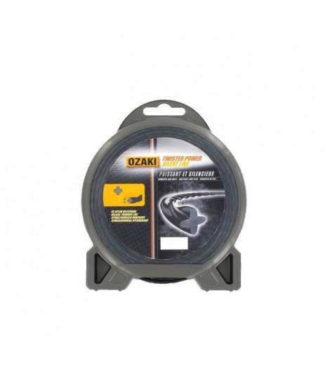 JARDIN PRATIQUE Fil nylon hélicoidal OZAKI PREMIUM pour débroussailleuse - Ø 2,4  mm - L x 15 m
