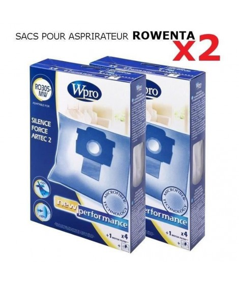 WPRO RO305-MW sacs aspirateur ROWENTA X2