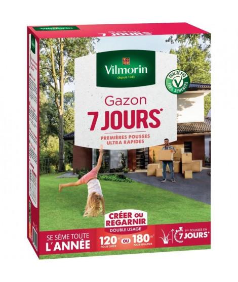 VILMORIN Semences de gazon 7 jours - 3 kg
