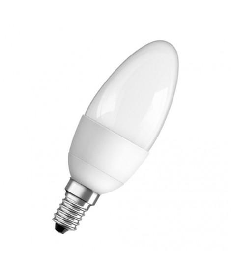 OSRAM Ampoule Led E14 flamme dépolie blanc chaud 6W équivalent 40W Star