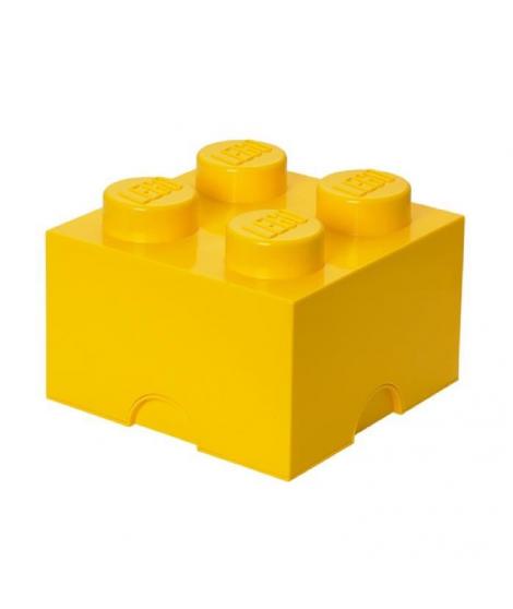 LEGO Brique de Rangements Empilable Jaune, 4 plots