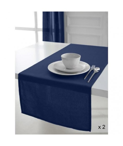 TODAY 2 Chemins de table 50x150 coton CIEL D'ORAGE