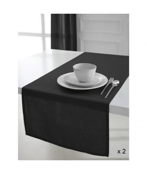 TODAY 2 Chemins de table 50x150cm coton REGLISSE