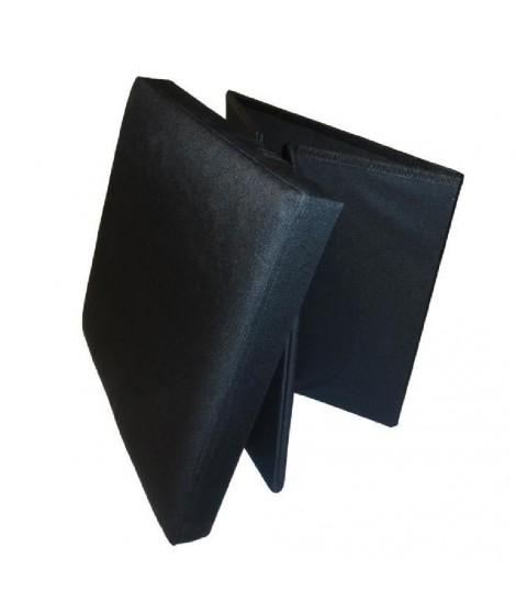 Pouf et rangement pliable noir 38 cm