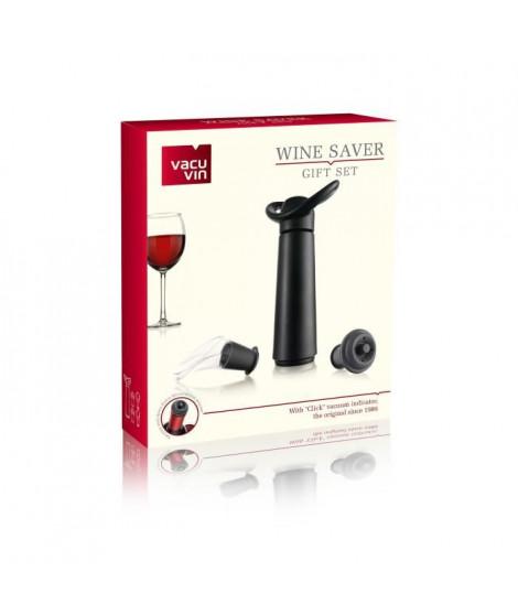 VACUVIN Coffret pompe a vin noire - 2 becs verseur et 2 bouchons