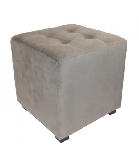 Pouf carré Selekt 35 cm gris