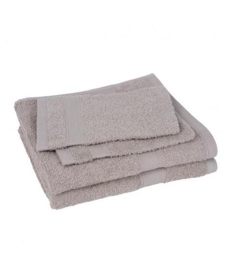 Lot de 2 serviettes et 2 gants ELEGANCE sable