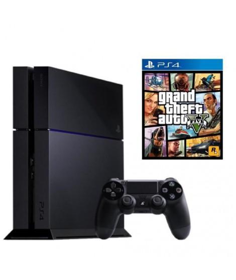 Pack PS4 500 Go Noire + Jeu PS4 GTA V