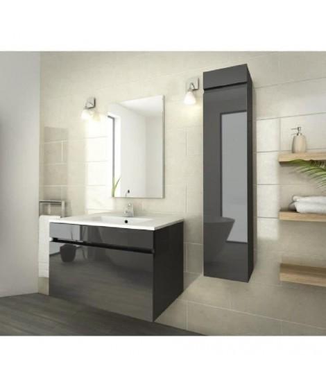 LUNA Ensemble de salle de bain 80 cm gris vernis