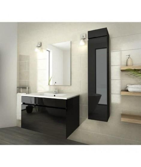 LUNA Ensemble de salle de bain 80 cm noir vernis