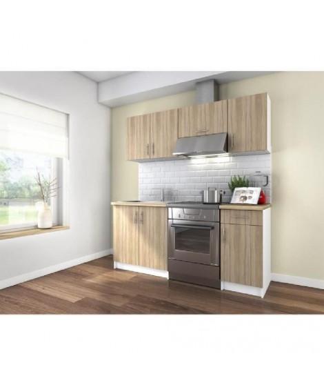 OBI Cuisine complete 1m80 - Décor bois et Oak Sonoma