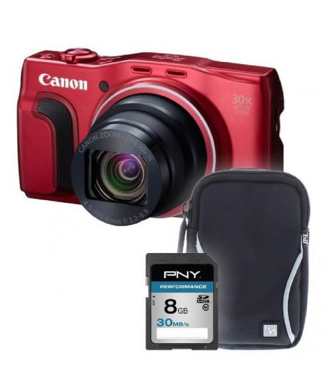 SX710 rouge + sacoche + carte 8Go -  Appareil photo compact