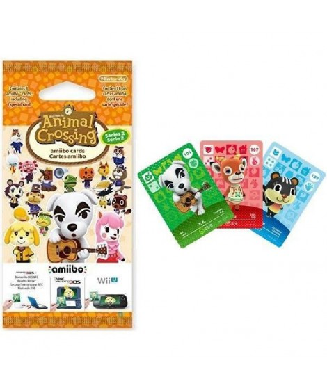 Cartes Animal Crossing Série 2 (paquet de 3 cartes - 1 spéciale + 2 normales)