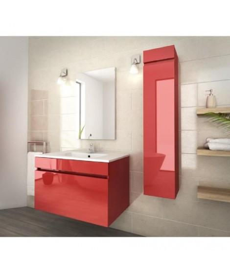 LUNA Ensemble de salle de bain 80 cm rouge vernis