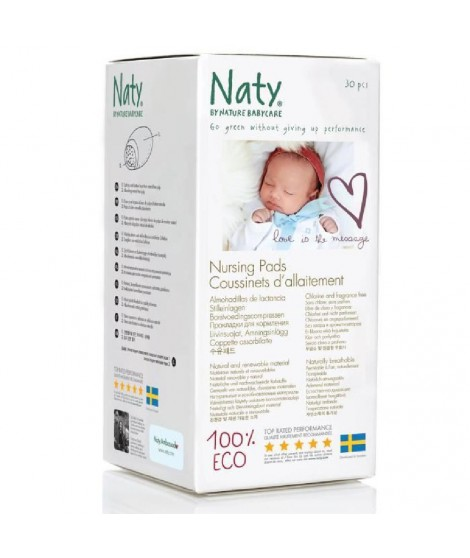 NATY Coussinets d'allaitement écologiques - 30 pcs