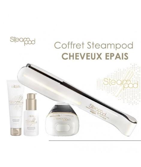 Coffret L'Oréal Steampod cheveux épais : Lisseur + creme + sérum cheveux
