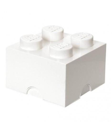 LEGO Brique de Rangements Empilable Blanc, 4 plots