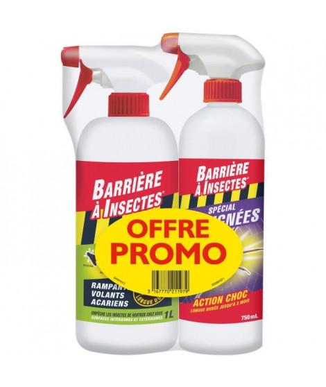 BARRIERE A INSECTES Offre Promo de 2 pulvérisateurs : 1 BARSEC1000N + 1 BARAIGNE750 - Pret a l'emploi