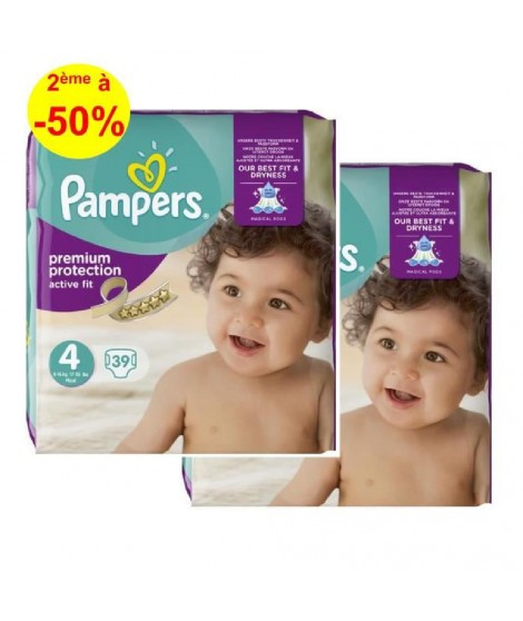 PAMPERS Active Fit T4, 8 a 16kg, 2x39 78 couches