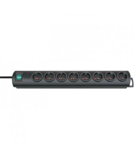 BRENNENSTUHL Bloc multiprise Primera-line socle 8 prises 2m avec interrupteur