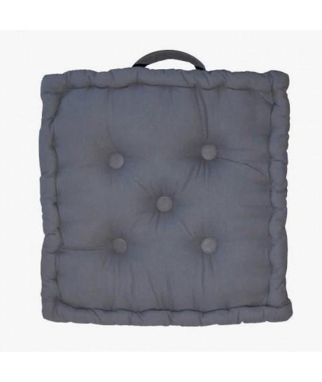 Coussin de sol 40x40x9 cm Gris antrhacite