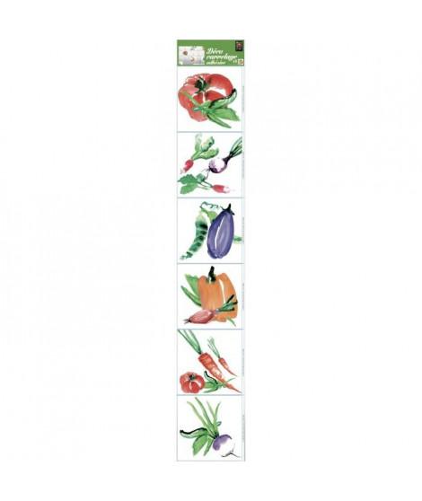 PLAGE  Sticker déco carrelage - Aquarelle6 planches 15 x 15 cm