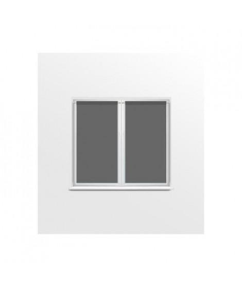 SUCRE D'OCRE Paire de brise bise DOLLY - 90x120cm - Polyester Anthracite