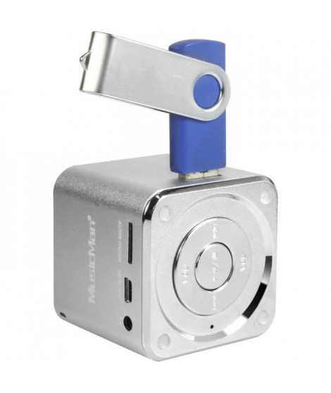 MUSICMAN MINI SOUNDSTATION Mini Enceinte portable avec lecteur MP3 intégré, port USB et fente carte micro SD jusqu'a 32 GB - …