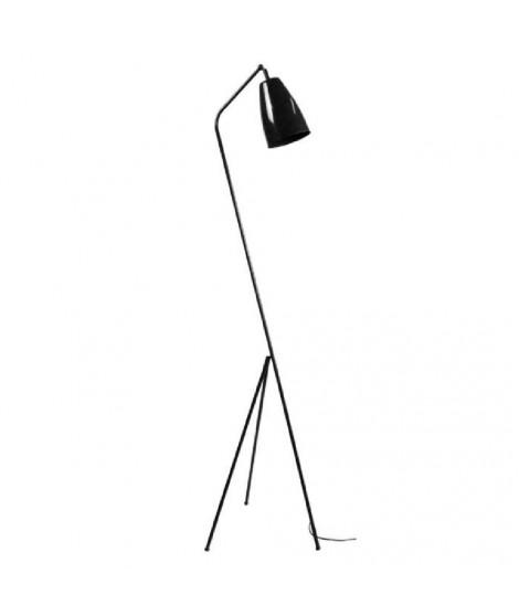 Lampadaire trépied avec projecteur conique fixe Larsen 1,55 m 20 W équivalent a 75 W noir