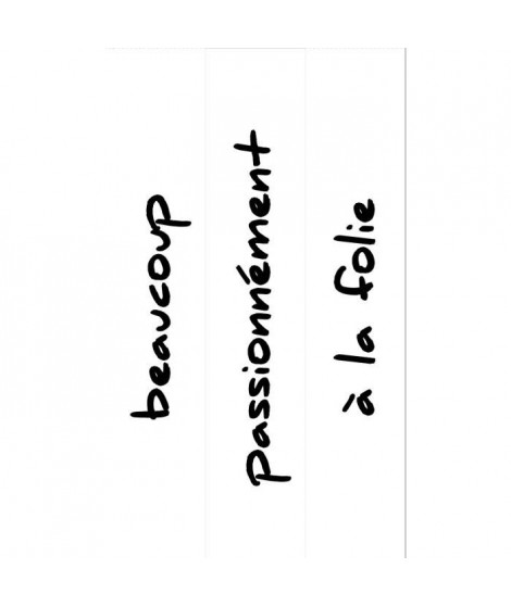 PLAGE Sticker Contremarche adhésive- Beaucoup100 x 19 cm