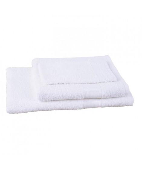 JULES CLARYSSE Lot de 1 serviette + 1 drap de bain + 1 gant de toilette Viva - Blanc