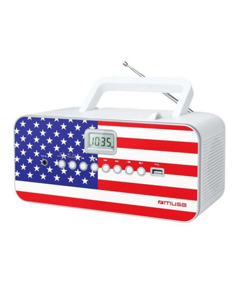 MUSE M-28 US Radio lecteur CD/MP3 - Port USB
