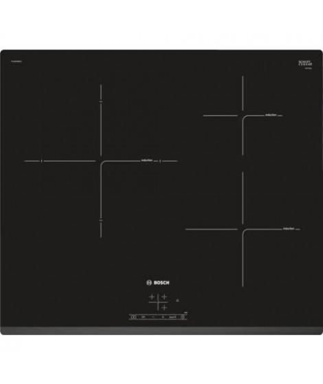 BOSCH PUJ631BB1E Table cuisson induction - 3 zones - 4600W - L 59,2 x P 51 cm - Revetement verre - Noir