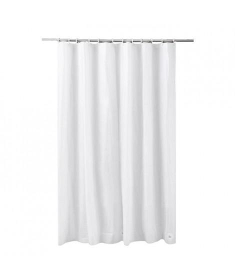 FRANDIS Rideau de douche en PVC uni blanc