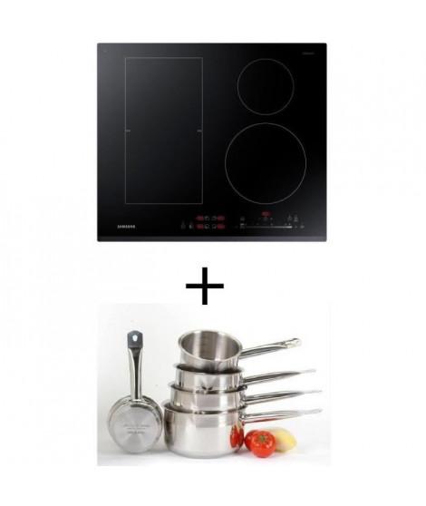 Pack cuisson SAMSUNG NZ64K5747BK - Table de cuisson a induction - 4 zones - 7200W - L60 x P52cm +  Set 5 pieces tous feux