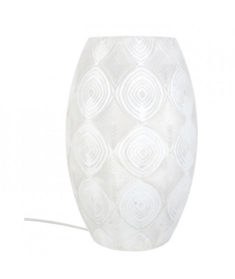 TOSEL Lampe a poser décorative Pow-How E27 60W blanc