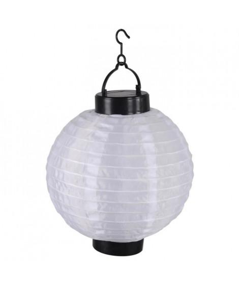 Lanterne chinoise solaire en plastique Ø20cm - Blanc