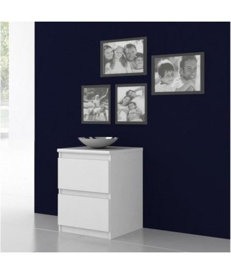 FINLANDEK Chevet NATTi 2 tiroirs 42x56cm blanc