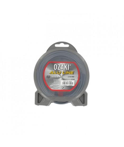 JARDIN PRATIQUE Fil nylon alu line OZAKI pour débroussailleuse - Ø 2,5  mm - L 15 m
