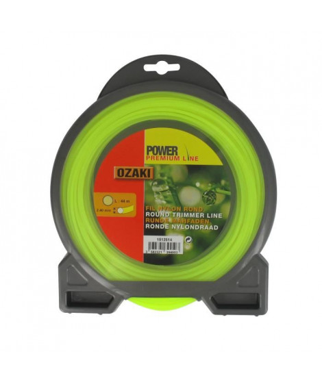 JARDIN PRATIQUE Fil nylon rond premium line OZAKI pour débroussailleuse - Ø 2,4 mm - L 44 m