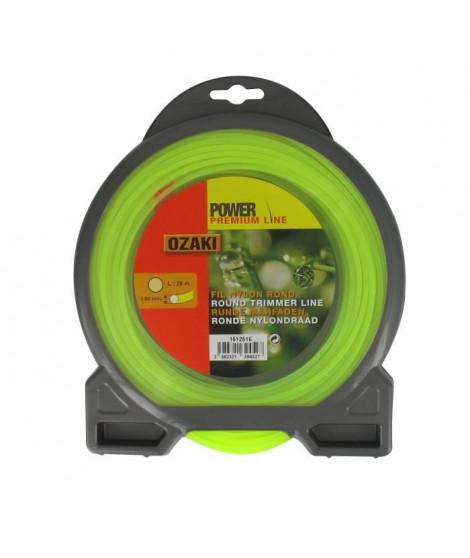 JARDIN PRATIQUE Fil nylon rond premium line OZAKI pour débroussailleuse - Ø 3 mm - L 28 m
