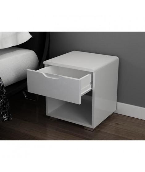 URBANO Chevet 35 cm - Laqué blanc brillant