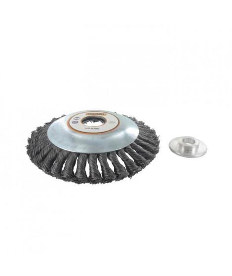 JARDIN PRATIQUE Tete brosse métallique pour débroussailleuse ø 150 mm - a partir de 30 cc