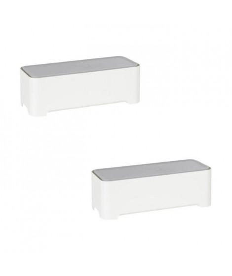 ALLIBERT Lot de 2 boîtes de rangement rectangulaires 37x15x13 cm