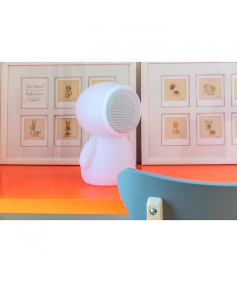 LUMISKY Baladeuse lumineuse et musicale multicolore LED sur batterie - 18x18x30cm