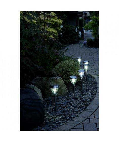 lot de 6 lanternes en inox a énergie solaire