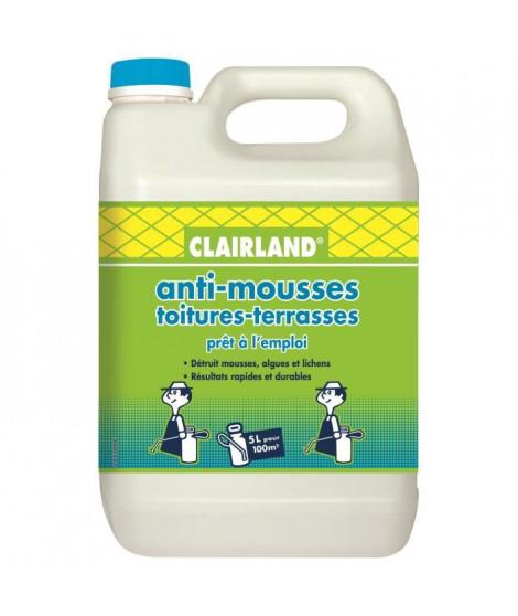 CLAIRLAND Anti-Mousses, algues et lichens sur toitures, terrasses et dallages - Solution prete a l'emploi pour pulvérisateur …